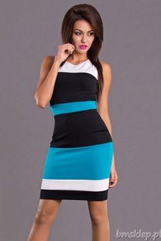 Sukienka szyfonowa w pasy... #Sukienki - http://bmsklep.pl/sukienki