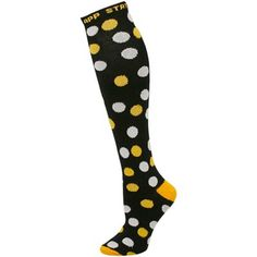 Appalachian State Mountaineers Ladies Black Polka Dot Knee Socks
