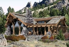 Precision Craft - Caribou | floorplans | Log Cabin Homes This is my dream home!