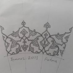 Rûmî eskiz/Rûmî sketch Textile Pattern Design, Textile Patterns, Pattern Art, Calligraphy Letters Alphabet, Arabic Calligraphy Art, Islamic Art Pattern, Arabic Pattern, Jewelry Drawing, Jewelry Art