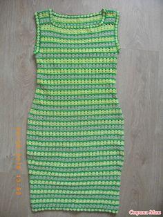 Полосатое платье (ликвидация остатков пряжи) - Вязание - Страна Мам