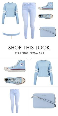"""""""Light Blue"""" by aderrica-hair on Polyvore featuring beauty, Converse, Miss Selfridge, MICHAEL Michael Kors and Jules Smith"""