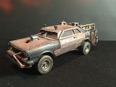 post apocalypse ford Galaxie with passenger side machine gun,