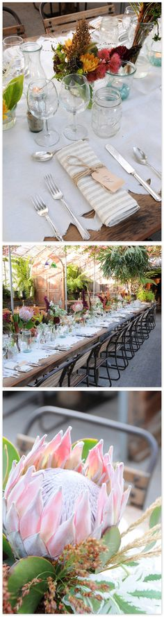 gorgeous table setting for an event at Terrain's Glen Mills, PA shop. From Creature Comforts blog.