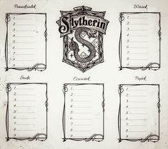 plan lekcji harry potter slytherin can find Slytherin and more on our website. Harry Potter Journal, Harry Potter Art, School Plan, School Schedule, Ravenclaw, Alphabet Practice Sheets, Bullet Journal Travel, Draco, Hogwarts