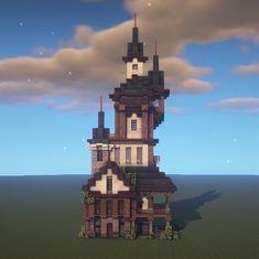 Minecraft Palace, Minecraft Medieval House, Minecraft Cottage, Cute Minecraft Houses, Minecraft Houses Blueprints, Minecraft House Designs, Amazing Minecraft, Minecraft Creations, Minecraft Crafts