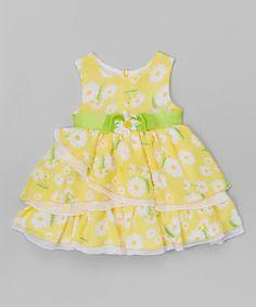 Yellow Daisy Babydoll Dress - Toddler & Girls