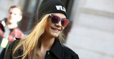 La modelo británica Cara Delevigne con sus gafas Carrera | Street Details
