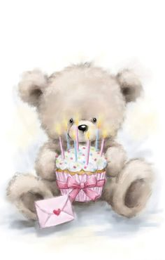 Happy Birthday Wishes Cards, Happy Birthday Images, Birthday Cards, Teddy Bear Images, Teddy Bear Pictures, Tatty Teddy, Baby Clip Art, Cute Teddy Bears, Bear Art