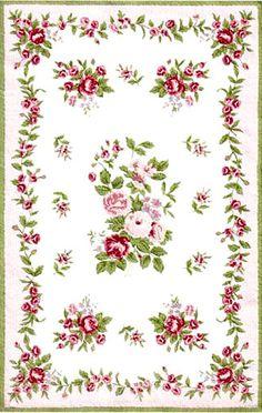 Miniature Printables - Rose Dollhouse Carpet. (V)