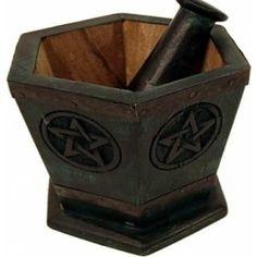 Gezien op Beslist.nl: Vijzel Pentagram hout