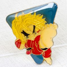 Street Fighter 2 Metal Pins Badge Ken Capcom Character JAPAN GAME 2