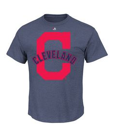0270061a Another great find on #zulily! Cleveland Indians Team Logo Tee - Men &