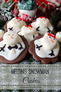 Melting Snowman Cookies at Made From Pinterest