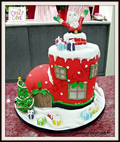 Christmas cake Gâteau de noël