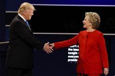 Hillary Clinton y Donald Trump se levantaron tras la noche de debate del lunes con una resaca totalmente opuesta.