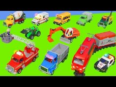 Fire Truck, Train, Excavator, Dump Truck, Police Cars & Tractor Construction Toy Vehicles for Kids. Have Fun :) Hi Parents. All Toys are bought by myself. Toy Trucks, Fire Trucks, Dump Truck, Police Cars, Have Fun, Construction, Train, Youtube, Toys