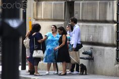 Mika goes for a stroll with his family in Montreal, Canada August 15, 2012