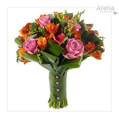 Rustic Calla & Rose Bridal Bouquet  http://www.arenaflowers.com/weddings/wedding_flowers_bouquets/wedding_bridal_bouquets# #wedding #bridalbouquet