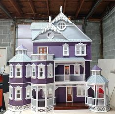 Your place to buy and sell all things handmade Ashley Gothic Victorian Generation 2 Dollhouse scale kit Victorian Dolls, Victorian Dollhouse, Modern Dollhouse, Victorian Gothic, Gothic Mansion, Modern Victorian Homes, Gothic Lolita, Wooden Dollhouse Kits, Dollhouse Design