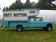 1965 campers | 1965 Dodge Crew Cab Power Wagon 4x4,with 1963 Kamp King Koaches Camper ...