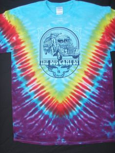 Grateful Dead tiedyed Furthur bus lot tee by UncleJohnsOutfitters, $21.99