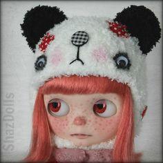 Panda Helmet for Blythe by ShazDolls by Shazdolls on Etsy