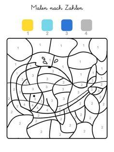 숫자색칠에 관한 인기 이미지 100개 - 2020 | 숫자에 맞춰 색칠하기, 수학, 공부