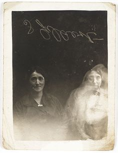 (Two women with a spirit)- He went on to found the Crewe Circle – a group of six spirit photographers led by Hope. When Archbishop Thomas Colley joined the group they began to publicize their work.