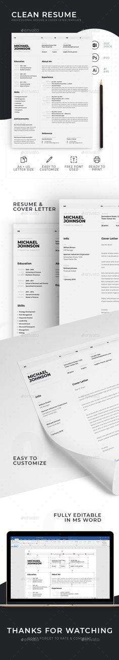 Resume  Cover Letter Template Resume Templates Pinterest