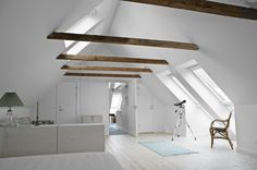Nice exposed beams and rest white :)