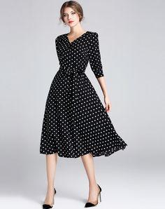 Never impossible black polka dot sundress fetish phrase, matchless)))