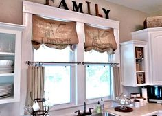 kitchen window dressing | ... Decorating Ideas: Vintage Kitchen Interior Design window treatments