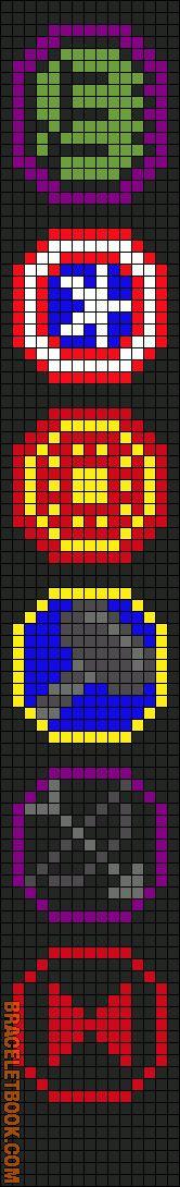 Rotated Alpha Pattern #5373 added by Lagarto26 avengers friendship bracelet