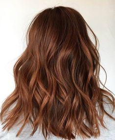 Auburn Balayage, Blonde Balayage Highlights, Hot Hair Styles, Curly Hair Styles, Pelo Color Caramelo, Auburn Red Hair, Auburn Brown, Light Auburn Hair, Reddish Brown