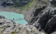 WALK ACROSS THE TRIFT BRIDGE ABOVE THE SWISS ALPS Where: Switzerland This one's not for the acrophobic type. Hanging at a height of 328 ft, Trift Bridge is the longest pedestrian-only suspension bridge in the Swiss Alps, and walking along it gives some breathtaking views of the mountains.