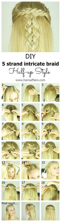 The intricate five strand braid is actually quite doable, even on yourself, once you break it down into easy step-by-step instructions. Check out this blog post (video tutorial included) to see how to make this head turning hairstyle on yourself: https://hairsaffairs.com/intricate-five-strand-braid-trick-short-medium-hair-layers/