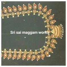 Hand Work Blouse Design, Simple Blouse Designs, Blouse Back Neck Designs, Bridal Blouse Designs, Silk Bangles, Hand Embroidery Designs, Aari Embroidery, Maggam Work Designs, Fancy