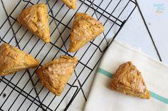 gluten free pumpkin scones via SuperGlueMom.com - Also included are the original and paleo pumpkin scone recipes. YUM!
