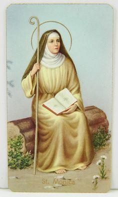 St Monica--patron saint of alcoholics! Our city's patron saint. Catholic Prayers, Catholic Saints, Roman Catholic, Catholic Kids, Novena Santa Monica, Religious Pictures, Religious Art, Patron Saints, Oracion Santa Monica