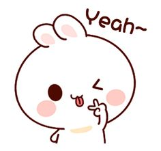 LINE Creators' Stickers - Happy bunny Sunny 2 Example with GIF Animation Cute Cartoon Images, Cute Love Images, Cute Love Stories, Cute Love Cartoons, Cute Love Gif, Cute Cartoon Wallpapers, Funny Cartoon Memes, Cartoon Gifs, Cute Memes