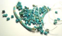 Lot of small turquoise beads by JewelryStatements on Etsy