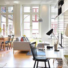 """133 Likes, 3 Comments - Våningen & Villan (@vaningenvillan) on Instagram: """"Inspo från himmelriket? Näst intill, inspo från 👉🏼 Himmelriksgränden 2 i Helsingborg. En ljus…"""""""