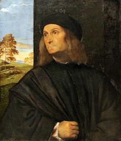 Titian: Portrait of Giovanni Bellini (1511-12) (Giovanni Bellini: Italian, Venetian, ca. 1431/6, active by 1459, died 1516)