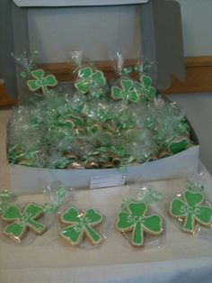 SCC Shamrock Cookies Saint Patrick's Day