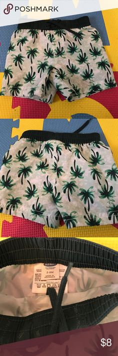 New never used baby swim trunks Adorable palm tree pattern. Never used. Draw string 3-6 months Old Navy Swim