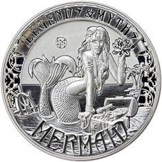 Buy 2016 2 oz Reverse Proof Solomon Islands Silver Legends and Myths Mermaid Coins online (.999 pure). FREE Shipping on ALL Orders.