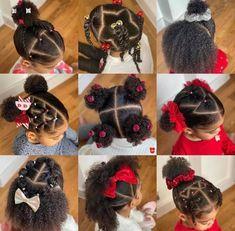 Black Baby Girl Hairstyles, Cute Toddler Hairstyles, Kids Curly Hairstyles, Natural Hairstyles For Kids, Natural Hair Styles, Toddler Braids, Braids For Kids, Cabello Afro Natural, Girl Hair Dos