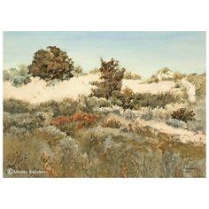 Duinlandschap, Ameland - Dune landscape, Ameland. Watercolor, 26x36 cm, September 2016 Location: Ameland, the Netherlands 050916 -  € 550