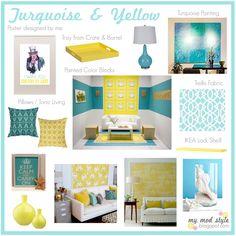 turqoise/yellow